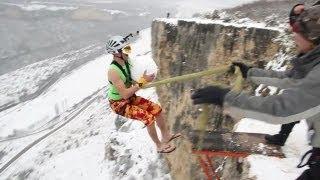 Extreme спорт Роупджампинг: Зимние прыжки Rock&Rope