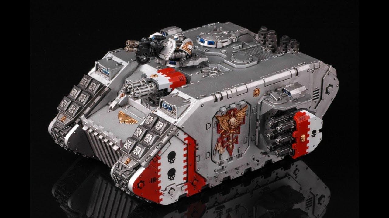 How to paint Grey Knights Land Raider   Warhammer 40k ...