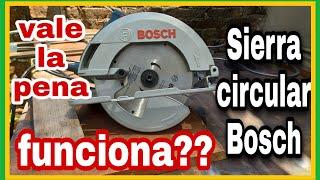 Sierra circular BOSCH! funciona realmente?vale la pena? carpintería para principiantes.