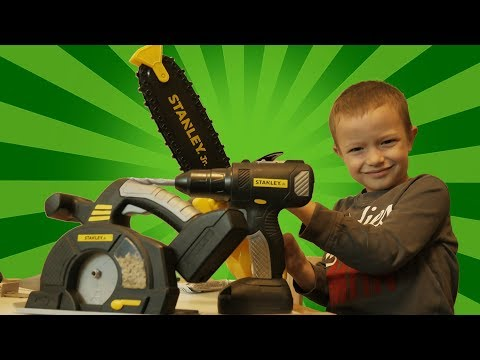 STANLEY Jr. Toys | Chainsaw, Circular Saw, Power Drill | Kids Play by Brothers r Us!