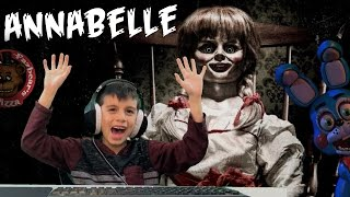 Five Nights at Freddy's at Chuck E Cheese Annabelle Jump Scare Roblox Game FNAF CEC