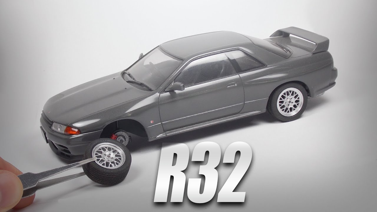 Nissan Skyline GTR R32 V Spec II: How Itu0027s Made? Fujimi 1/24 Plastic Scale  Model Step By Step