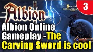 Albion Online Gameplay: Carving Sword PvE Fame farm! (Albion 2017 gameplay)