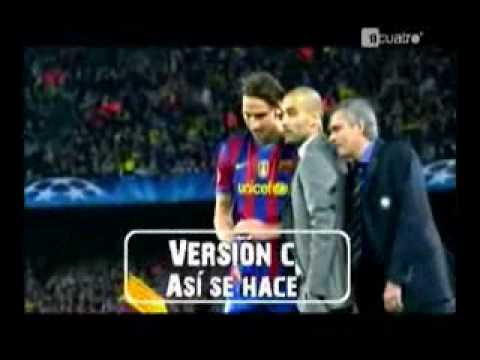 FC Barcelona vs Inter Milan 1-0 Jose Mourinho thumbnail