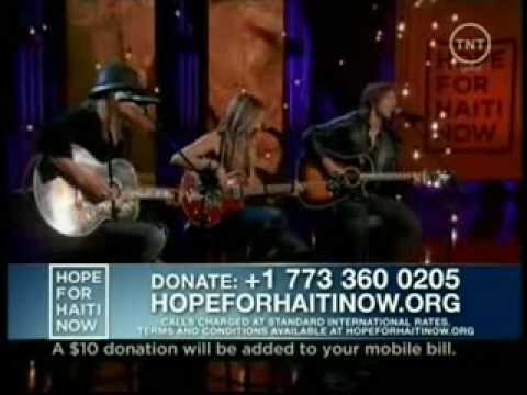 Sheryl Crow, Keith Urban & Kid Rock - Hope For 4 Haiti