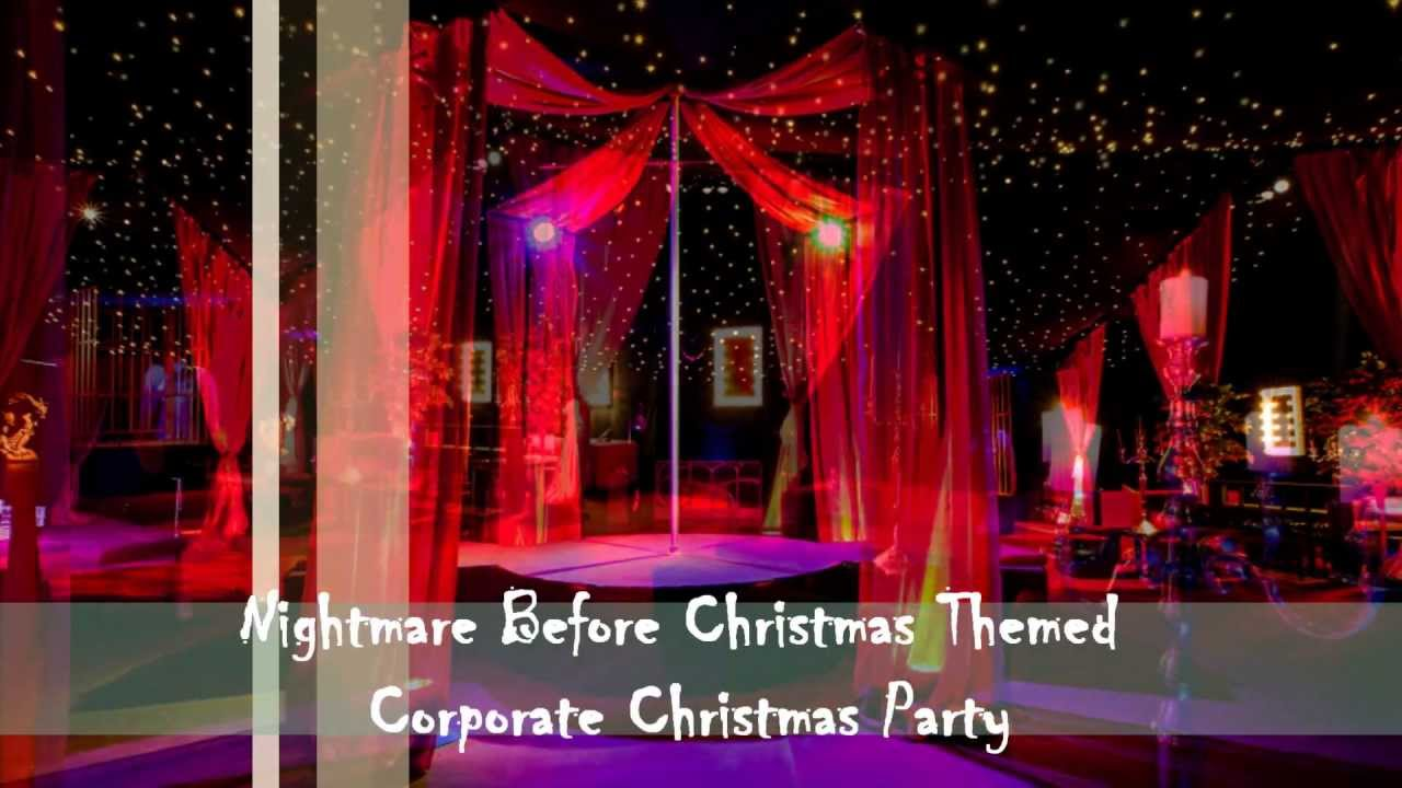 Nightmare Before Christmas Themed Corporate Christmas Party - YouTube