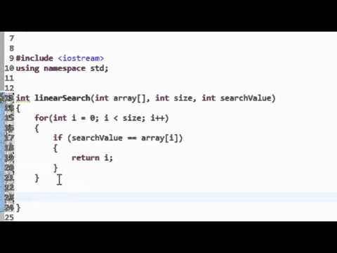 C++ Programming: Linear Search Algorithm