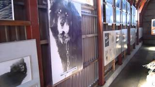 稚内市青少年科学館裏にある「南極越冬隊展示コーナー」の内部.