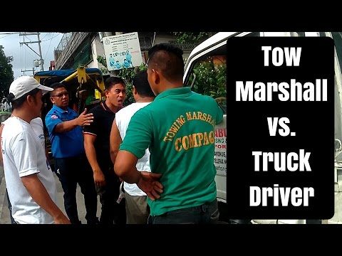 TOWING PERSONNEL VS. TRUCK DRIVER FIGHT! ROAD RAGE!