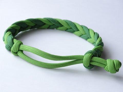 How to Make a 4 Strand Herringbone Paracord Bracelet - skivebom com
