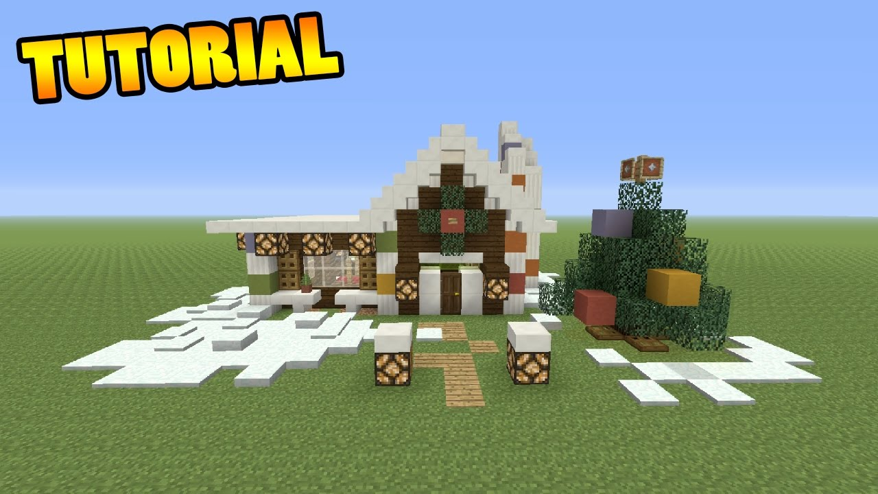 Minecraft Christmas Houses.Minecraft Tutorial How To Make A Christmas House
