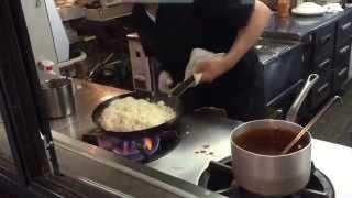たちばな亭 高速チキンライス 白飯があっという間に Quickly omelet