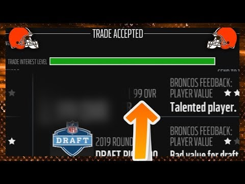 99 OVERALL PLAYER TRADED! (Madden 18 Franchise)