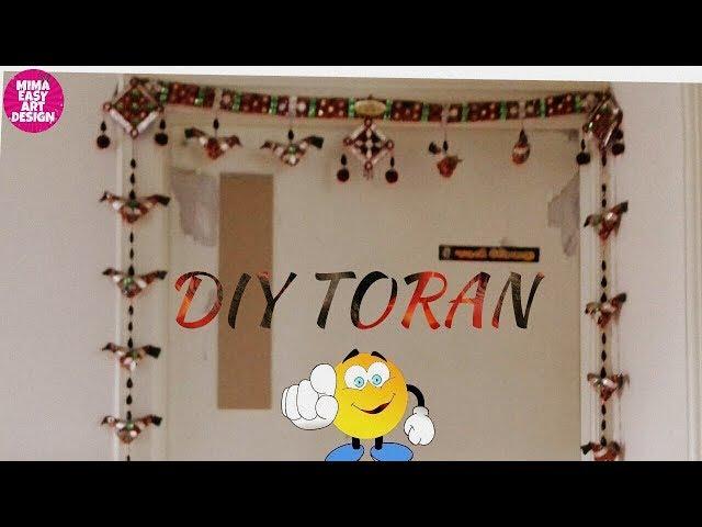 Toran making idea |Handmade door hangings |hindu door decoration |home projects |door hanger design
