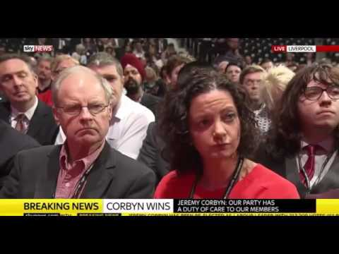 Jeremy Corbyn RE ELECTED Labour Leader