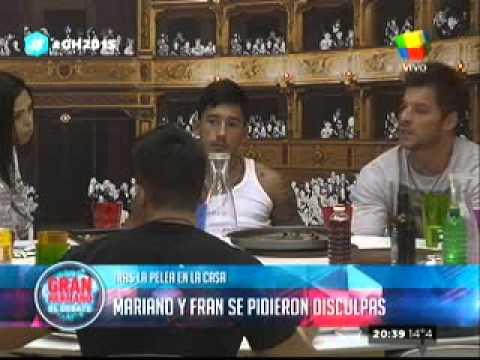 """""""Gran Hermano 2015"""": Francisco y Mariano se pidieron disculpas"""