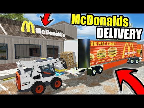 FARMING SIMULATOR 2017 | DELIVERING CHICKEN NUGGETS TO MCDON