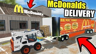FARMING SIMULATOR 2017 | DELIVERING CHICKEN NUGGETS TO MCDONALDS WITH NEW SEMI!