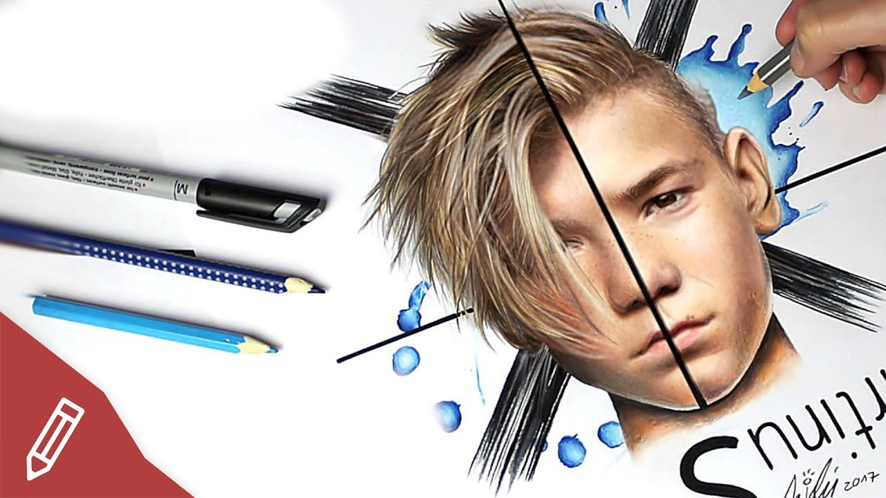 Drawing Marcus Martinus Realistic Pencil Portrait Time Lapse