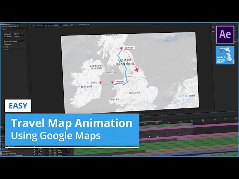 Easy Travel Map Animation using Google Maps (After Effects Tutorial)
