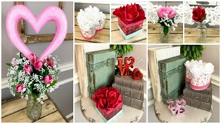 DOLLAR TREE DIY | 3 WAYS TO USE FLORAL | VALENTINES DAY BOX FLOWERS
