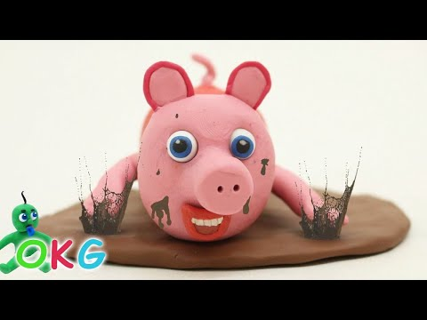 Baby Pig Play Doh Muddy Puddles Stop Motion for Kids and Toddlers