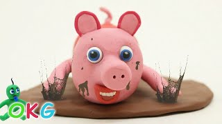 Baby Pig Play Doh Muddy Puddles Stop Motion for Kids and Toddlers thumbnail