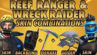 """Wreck Raider"" and ""Reef Ranger"" SKIN BEST BACKBLING + SKIN COMBOS! (Season 5 skin) (Fortnite) (2018)"