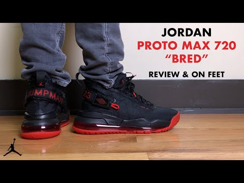 Jordan Proto Max 720 Black University Red Review And On Feet Youtube