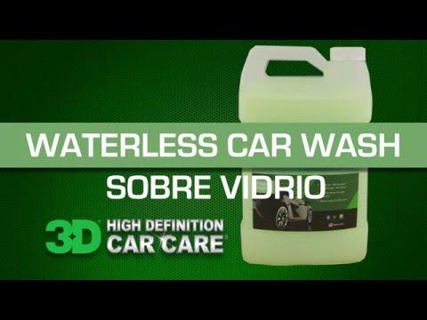 Waterless Carwash SOBRE VIDRIO