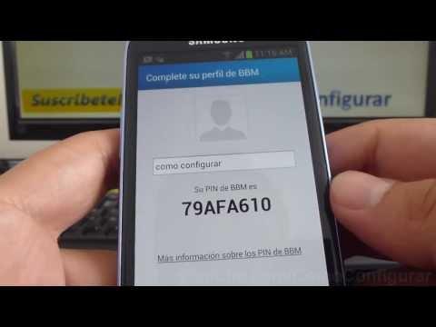 Como Descargar Blackberry Messenger Bbm Gratis Samsung Galaxy S3 Mini I8190 Español Full HD