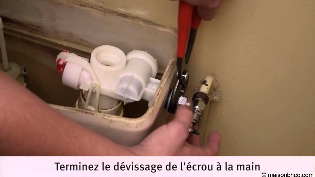 Remplacer Le Robinet Flotteur D Une Chasse D Eau Youtube