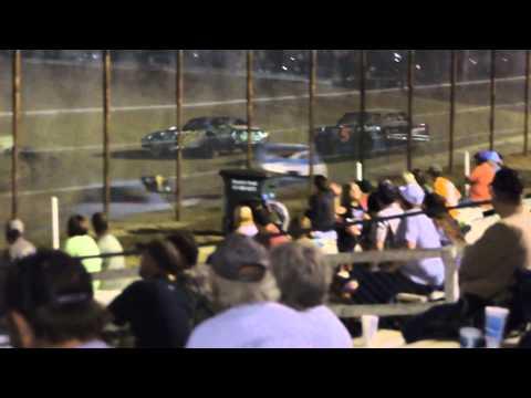 Devin Crockett Pure Stock B-Main Nevada Speedway 9/20/14