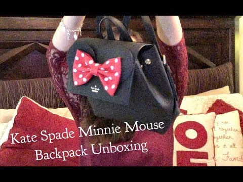 Kate Spade Minnie Mouse Backpack Unboxing