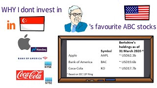 Why I don't buy Apple, Bank of America and Coca-Cola shares