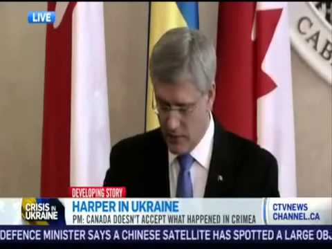 Mein Harper talks tough about Russia