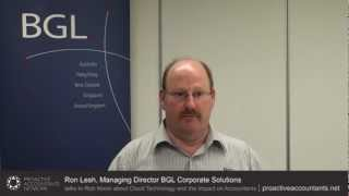Rob Nixon interviews Ron Lesh (Managing Director, BGL Corporate Solutions) about Cloud Technology