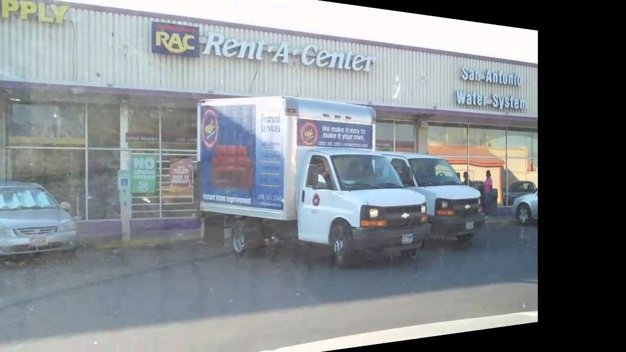 rac rent a center truck parks in handicap parking youtube. Black Bedroom Furniture Sets. Home Design Ideas