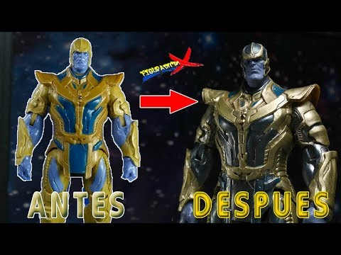 Custom Repaint Thanos Guardians of the Galaxy Hot Toys Recast Toy Makeover FigurAdicto X