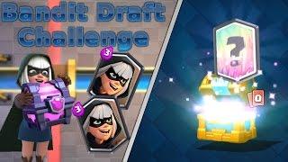 קלאש רויאל- קיבלנו לג'נדרי מקראון צ'סט באמצע סרטון?! | משחקים באתגר החדש! (Bandit Draft Challenge)