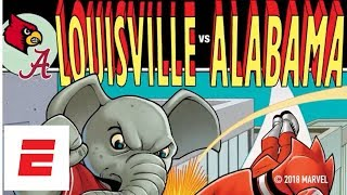 College Football Playoff & Marvel Comic Covers: Behind the Scenes Louisville/Alabama | ESPN