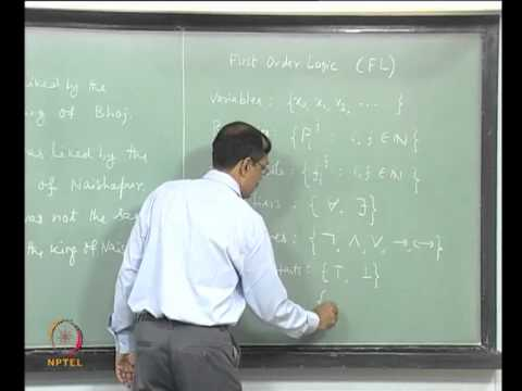 Mod-01 Lec-22 Lecture-22-Syntax of First order Logic (FL)