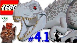 Смешной лего мультик игра про динозавров Парк юрского периода [4.1] Индоминус Рекс на свободе