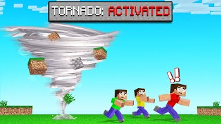 ESCAPE From The TORNADO Or You DIE! (Minecraft)