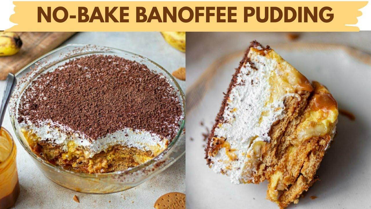 NO BAKE BANOFEE BISCUIT PUDDING | EGGLESS BANANA CARAMEL BISCUIT PUDDING| RAKSHABANDHAN SPECIAL