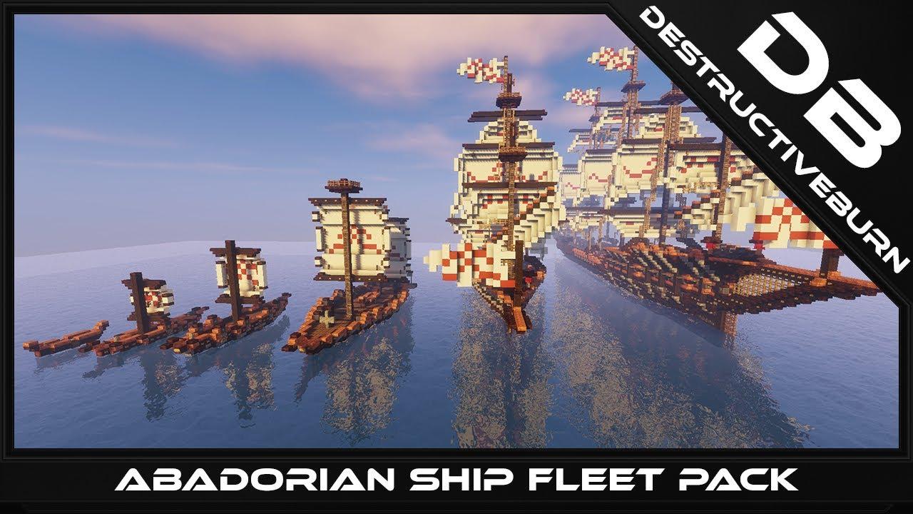 Minecraft Abadorian Ship Fleet Pack Download - YouTube on small minecraft ship plans, small minecraft yacht tutorial, small minecraft village, small boats mod minecraft,