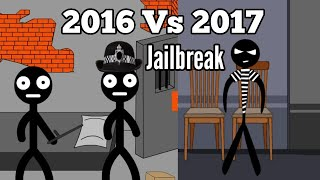 Stickman Jailbreak Escape 2016 Vs 2017 Comparison