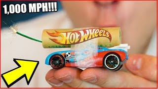 DIY ROCKET POWERED HOT WHEELS CAR! Fastest Toy Mod In The World (Experiment)