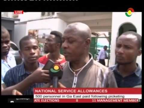 500 National Service personnel paid after picketing -31/1/2017