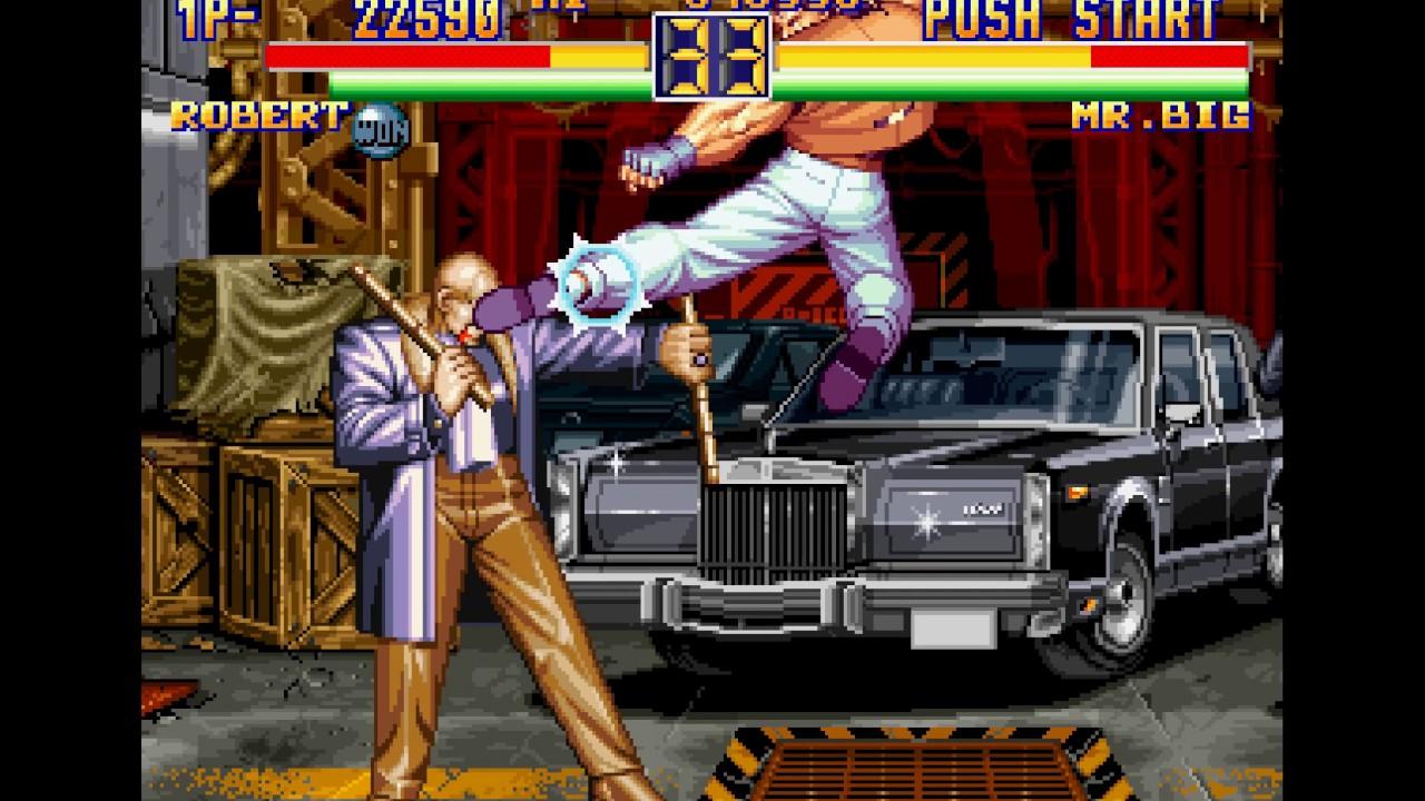 Fighting Game Bosses 108 Art Of Fighting 2 Mr Big Sub Boss Battle Bad Ending Youtube
